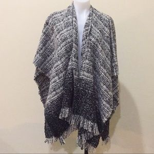 Jackets & Blazers - New no tag grey over the shoulder long cape